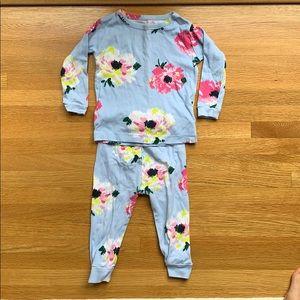 Baby Gap two-piece floral pajama set